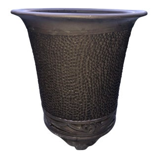 Asian Ceramic Planter, SIgned For Sale