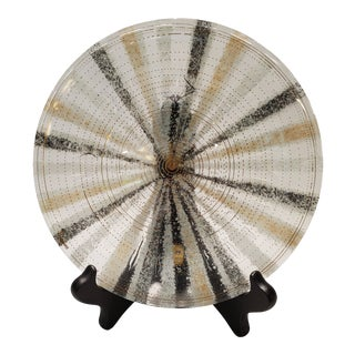 Mid-Century Glass Decorative Plate For Sale