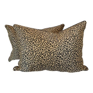 "Leopard Print Silk 18""x24"" Pillows-A Pair"