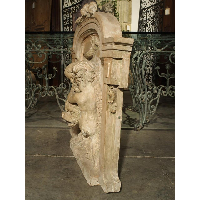 Antique French Terra Cotta Fountain Back, Circa 1860 For Sale - Image 11 of 13