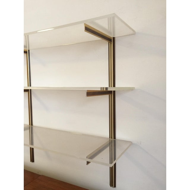 Vintage Lucite Wall-Mounted Shelf - Image 4 of 6