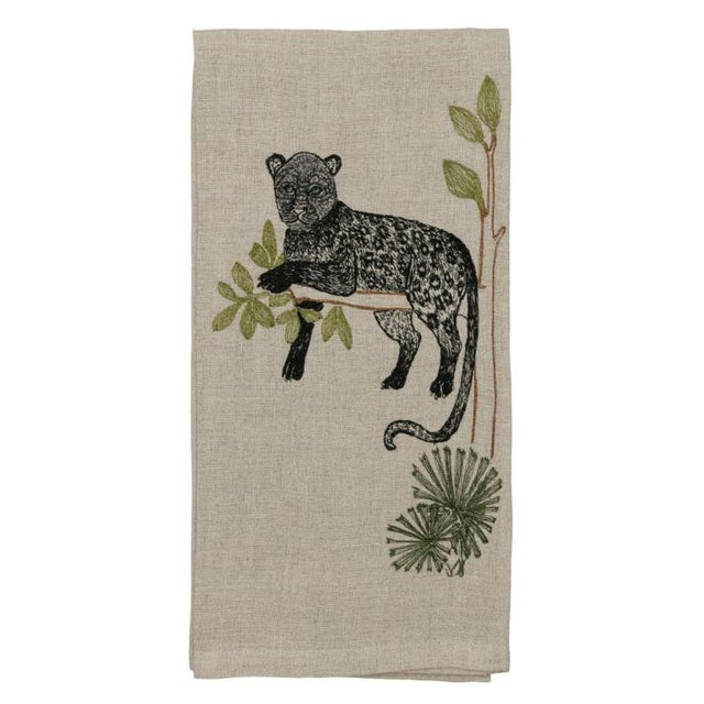 Panther Perch Tea Towel For Sale - Image 6 of 6