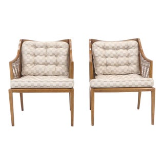 1950s Vintage T. H. Robsjohn Gibbings for Widdicomb Arm Chairs- a Pair For Sale