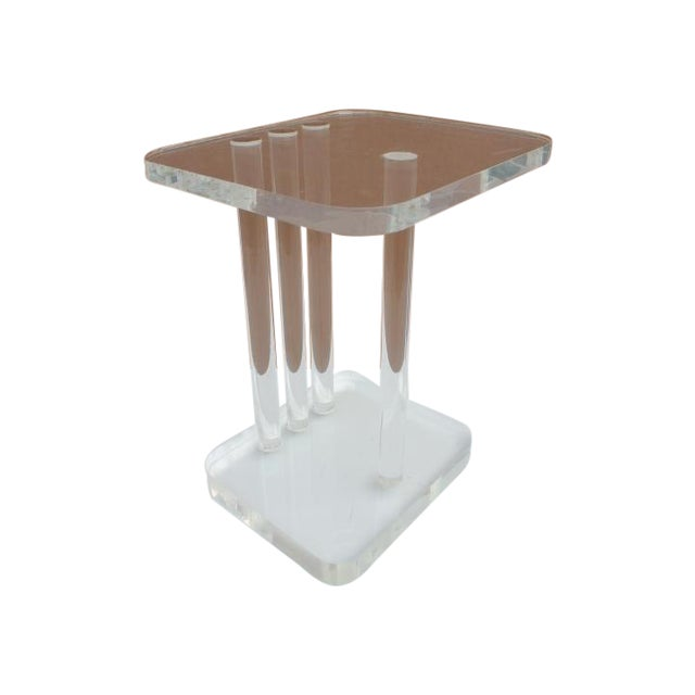 Mid-Century Modern Lucite Side Table - Image 1 of 11
