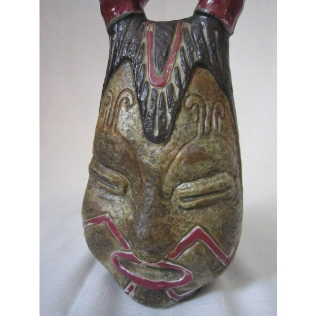 Ceramic Vintage Italian Art Pottery Decanter For Sale - Image 7 of 8