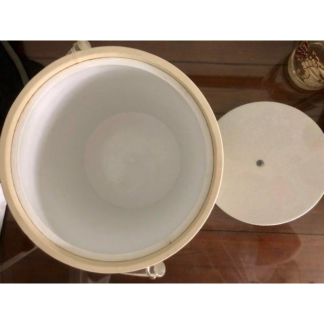 Acrylic Seashell Ice Bucket & Matching Glasses - Set of 4 For Sale In Charleston - Image 6 of 13
