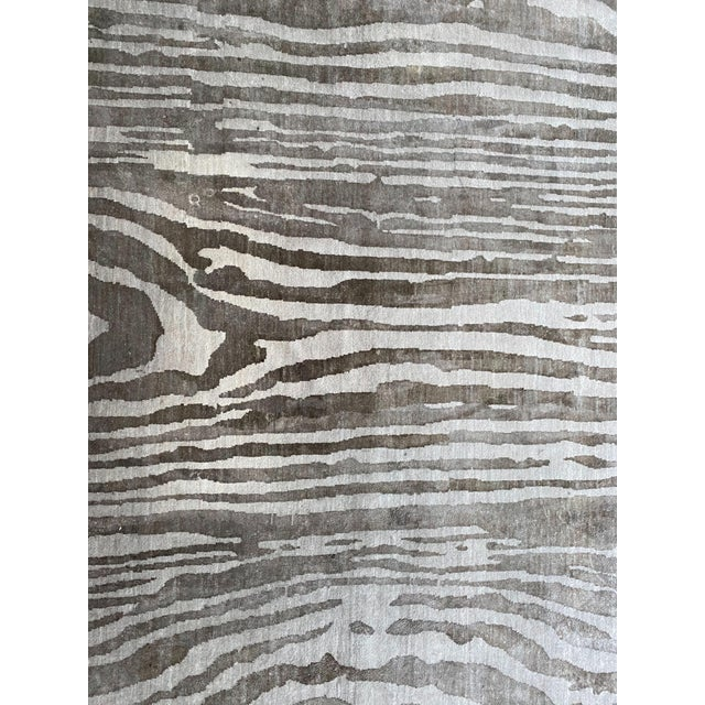 """Custom made Adam Hunter """"Zebois"""" rug, still available on """"The Rug Company"""" For 8k-12k. We are selling it for $1500 due to..."""