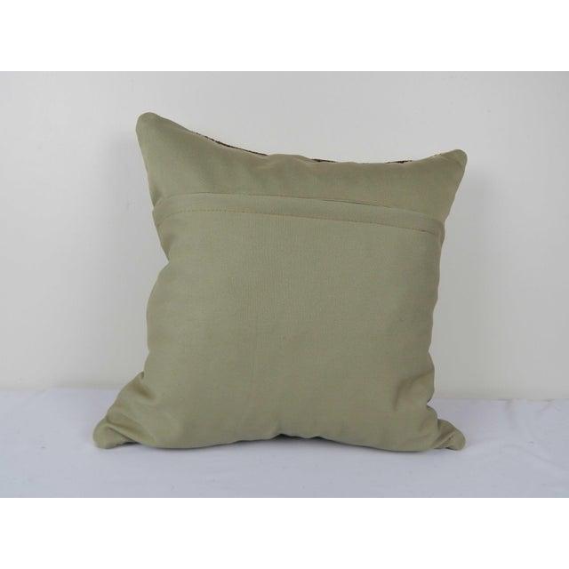 "1960s Vintage Turkish Hemp Kilim Pillow Cover 20"" X 20"" For Sale - Image 5 of 6"