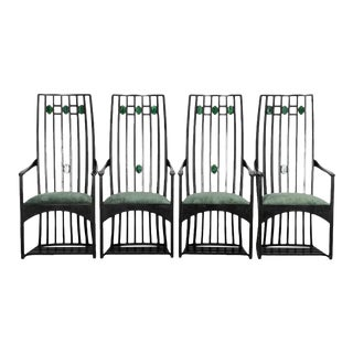 1970s High Back Mackintosh Chairs - Set of 4 For Sale