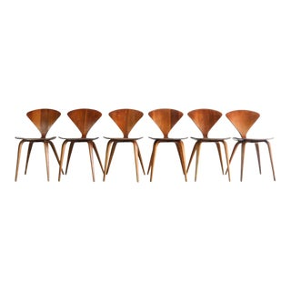 Vintage Mid Century Modern Cherner Chairs- Set of 6 For Sale