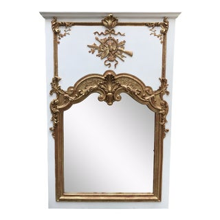 1950s Art Nouveau Gold And Ivory Mantle Mirror