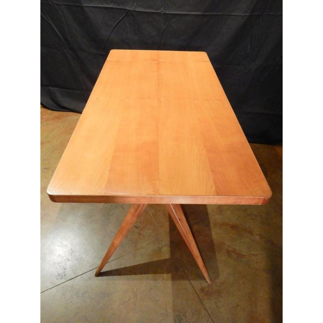 Tan Ico Parisi Italian Dining Table For Sale - Image 8 of 9