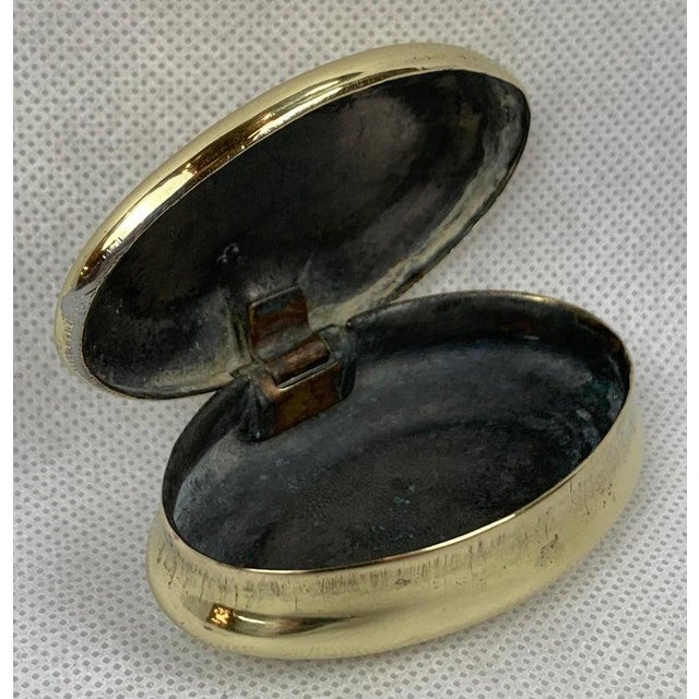 """Simple 19th Century Oval Brass Snuff Box """"Sam Smith"""", 1861 For Sale - Image 4 of 8"""