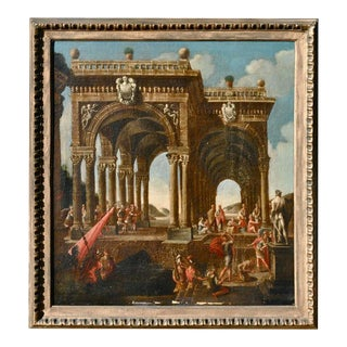 Mid-18th Century Italian Architectural Painting in Manner of Giovanni Panini