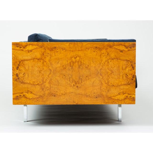 Milo Baughman Burl Wood Case Sofa for Thayer Coggin For Sale - Image 9 of 13