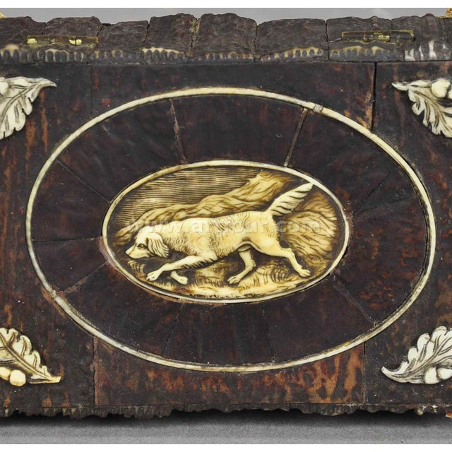 Mid 19th Century Great Miniature Antler Casket 1860 For Sale - Image 5 of 7