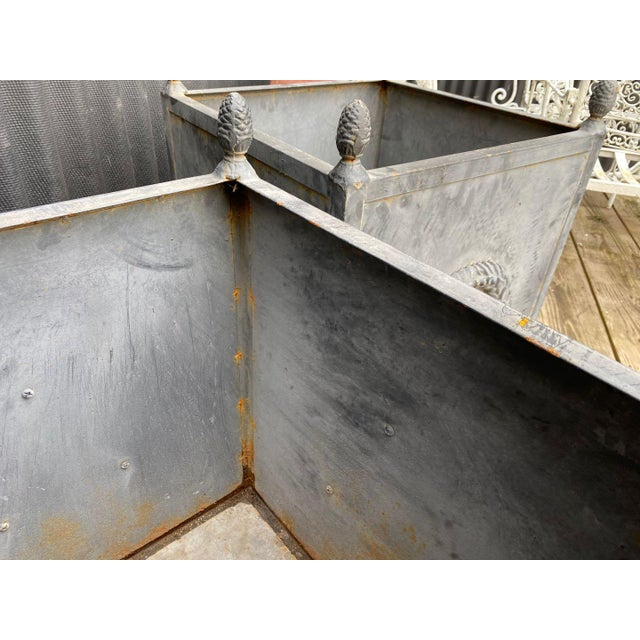 Steel Planters - a Pair For Sale - Image 9 of 11