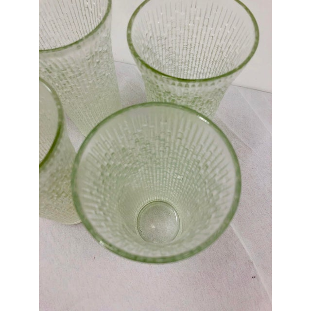 Vintage Faux Bamboo Style Cocktail Tumbler Highball Glasses - Set of 7 For Sale - Image 10 of 11