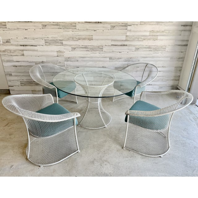 Mid-Century Modern Mid Century Wire Formed Patio Set For Sale - Image 3 of 13