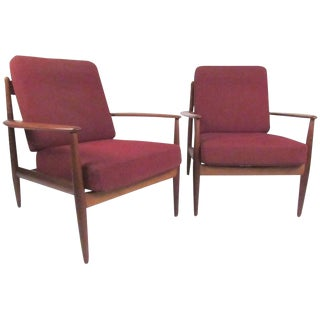 Grete Jalk Lounge Chairs for France & Daverkosen - A Pair For Sale