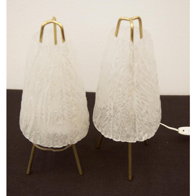1950s Table Lamps in Ice Optics by Kalmar, 1950s - A Pair For Sale - Image 5 of 11