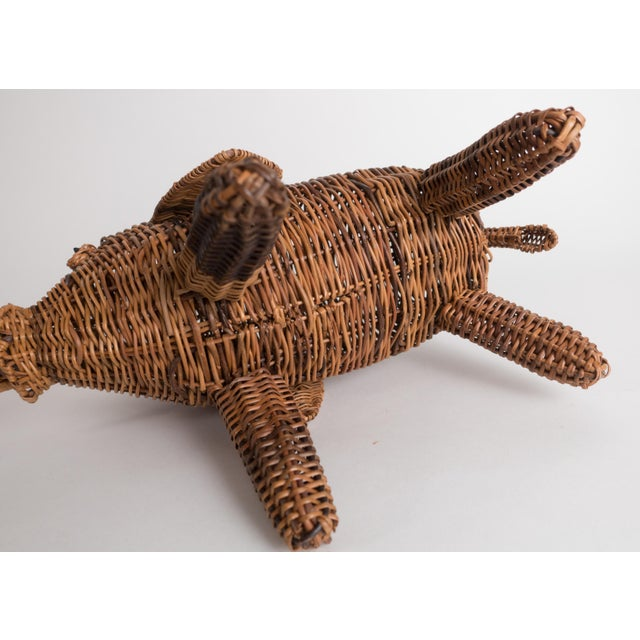 Vintage Wicker Elephant Statue For Sale - Image 10 of 13