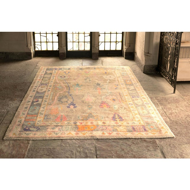 'Sezen' Modern Heirloom Turkish Oushak - 5′8″ × 7′7″ For Sale - Image 10 of 10