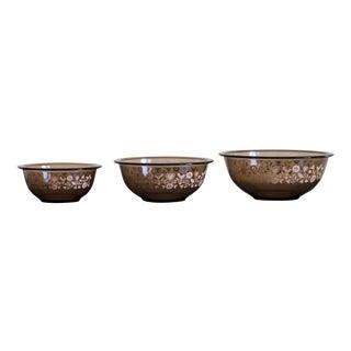 Vintage Pyrex Harvest Nesting Bowls - Set of 3 For Sale