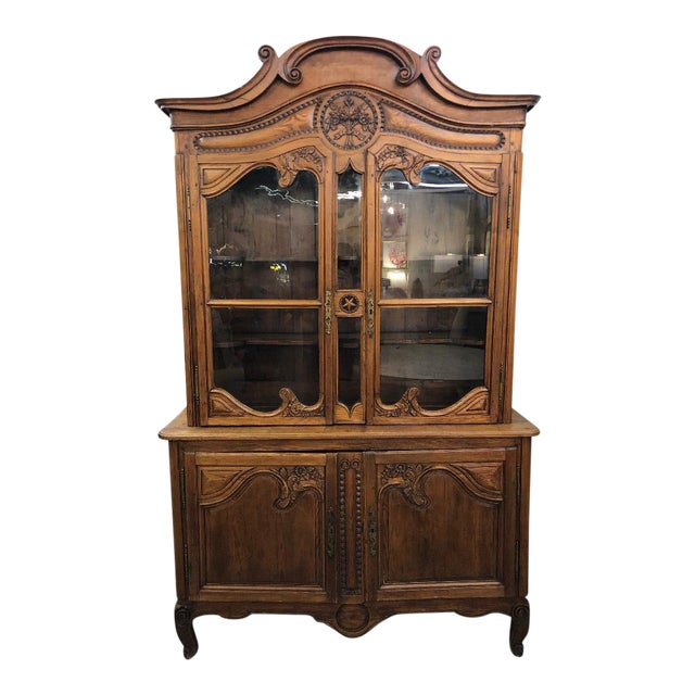 19th Century French Buffet Deux Corps For Sale