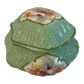 Vintage Hand Painted Trinket Box For Sale