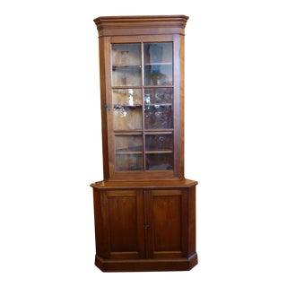 Early American Corner Cabinet