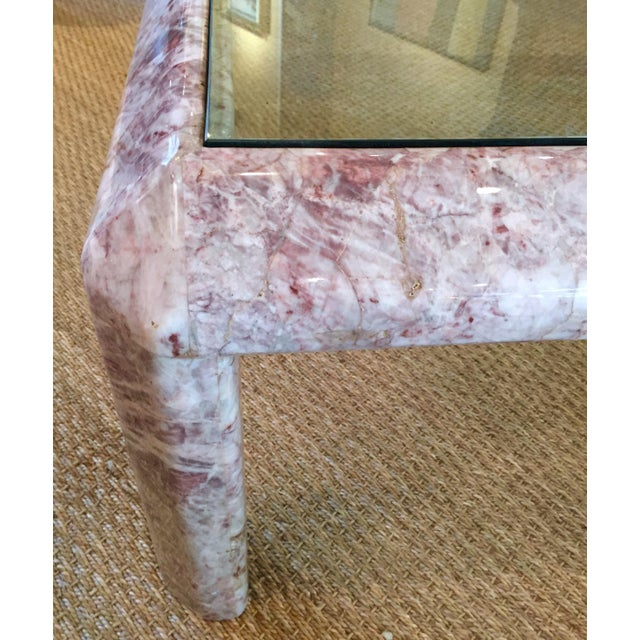 1960s Modernist Marble & Glass Cocktail Table For Sale - Image 5 of 7