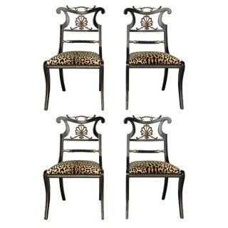 Regency Style Chairs - Set of 4 For Sale