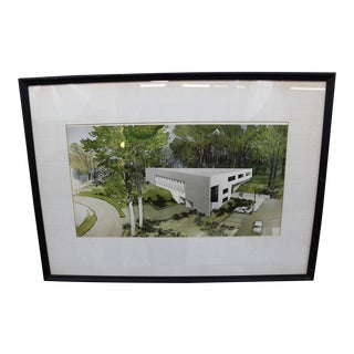 Vintage decorative architectural drawing For Sale