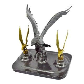 Brass Eagles Landing Sculpture For Sale