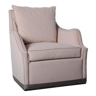 Emma Plinth Base Swivel Chair For Sale