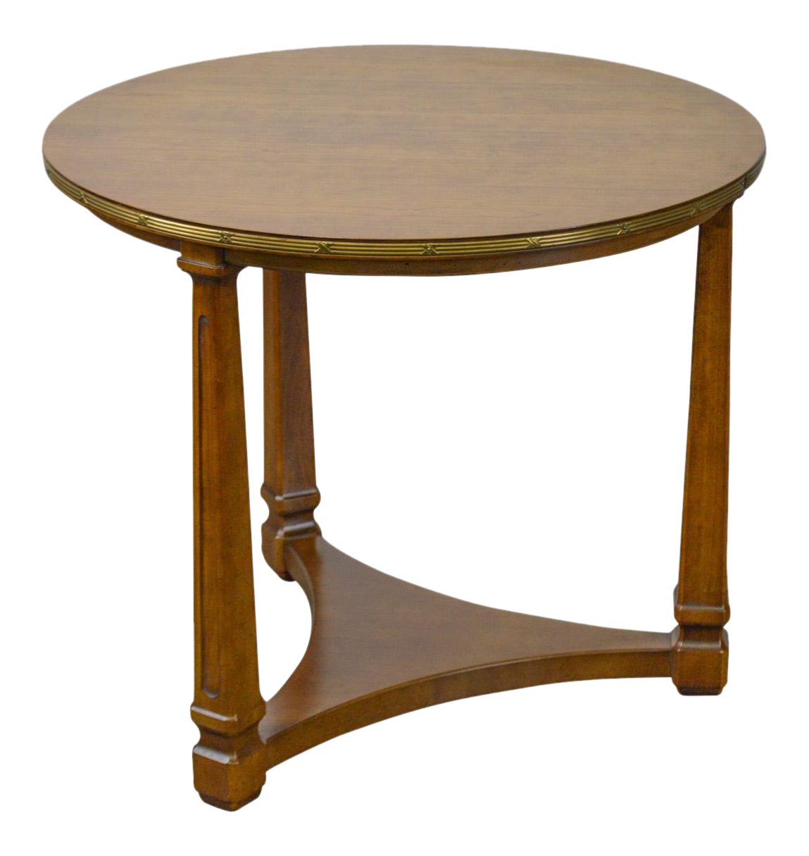 Henredon French Empire Style Round Fruitwood Side Table Chairish