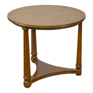 Henredon French Empire Style Round Fruitwood Side Table For Sale