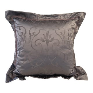 Euro Pillows in Custom Nomi Fabric, Lilac Purple Fabric, Lavender Trim