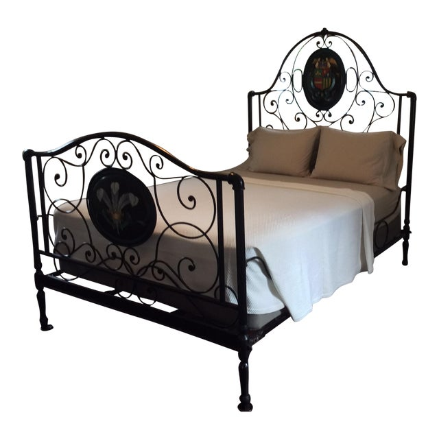Ornate Iron Queen Size Bed - Image 1 of 5