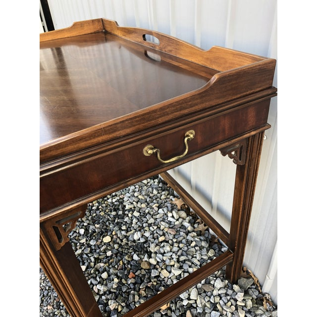 Chippendale 1970s Chippendale Lane Mahogany Writing Desk For Sale - Image 3 of 9