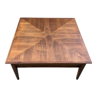 Mid 20th Century Mid-Century Modern Drexel Square Walnut Table For Sale