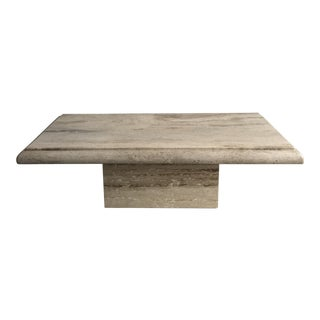 Solid Travertine Coffee Table For Sale