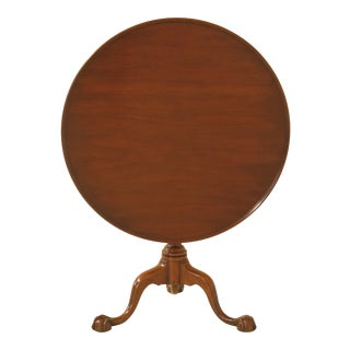 1970s Traditional Kittinger Ball & Claw Mahogany Williamsburg Table For Sale