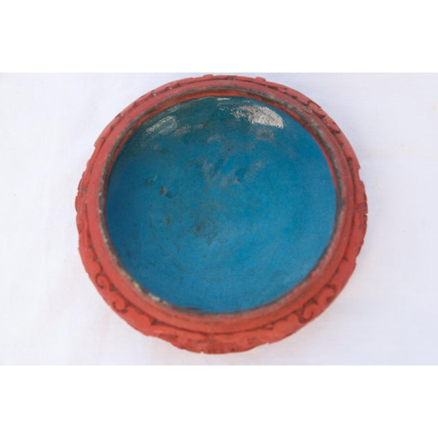 Antique Asian Cinnabar Bowl For Sale - Image 10 of 11