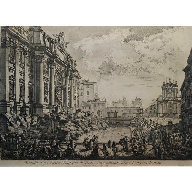 Italian Giovanni Battista Piranesi -Veduta Della Fontana DI Trevi -18th Century Etching For Sale - Image 3 of 9