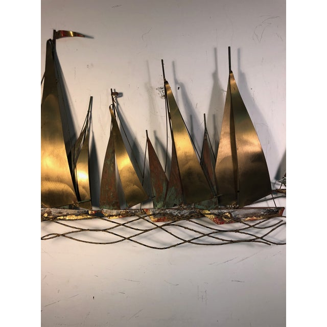 Metal 1970s Large Scale Boat Wall Sculpture by Curtis Jere For Sale - Image 7 of 9