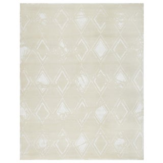 Stark Studio Rugs Contemporary Oriental Wool and Bamboo Silk Rug - 3' X 9' For Sale