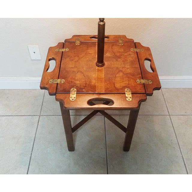 Brown Vintage Knob Creek Mid Century Table Floor Lamp For Sale - Image 8 of 13