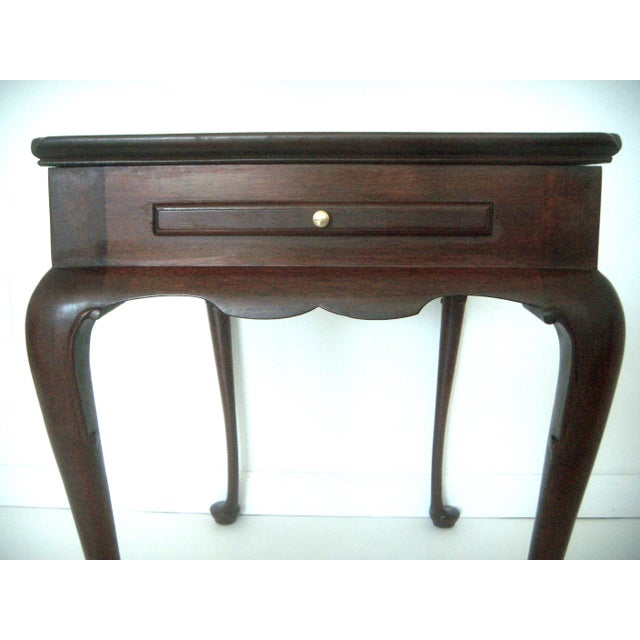 American Classical Biggs Pembroke Chippendale Style Side or Tea Table With Leaves For Sale - Image 3 of 8